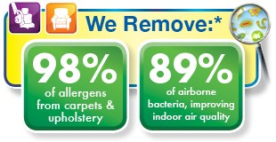 Brown's Chem-Dry of Cokato MN removes 98% of allergens from carpet and upholstery